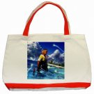 Warrior Tidus ffx/ff10--classic red tote bag
