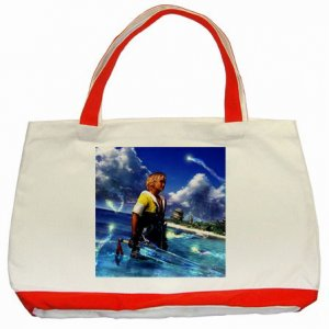 Warrior Tidus ffx/ff10--classic red tote bag