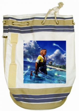 Warrior Tidus ffx/ff10--Beach Tote Bag