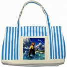 Warrior Tidus ffx/ff10--Striped Blue Tote Bag
