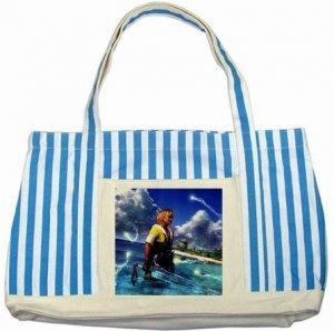 Warrior Tidus ffx/ff10--Striped Blue Tote Bag