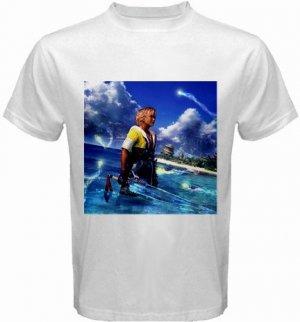 Warrior Tidus ffx/ff10--size large white t shirt