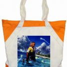 Warrior Tidus ffx/ff10--orange/white Accent Tote Bag