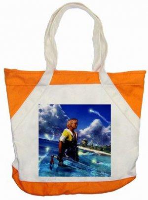 Warrior Tidus ffx/ff10--orange/white Accent Tote Bag