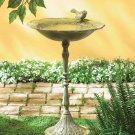 Antique Iron Birdbath