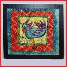 """""""Yes?"""" Original Batik Painting of a Bird"""