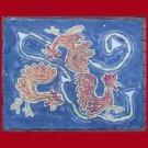 Pecking Order Batik Floor Cloth/Table Topper