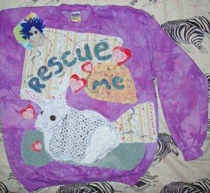 Primitive Sweathshirt with Resce Rabbit large 868