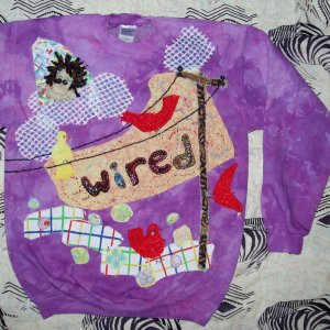 Wired Primitve Sweatshirt with birds Medium 867