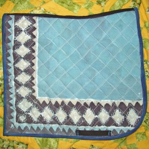 Blue Native Batik Dressage Pad 879