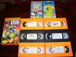 Lot of 9 Rugrats Movies/Reptar/Videos VHS