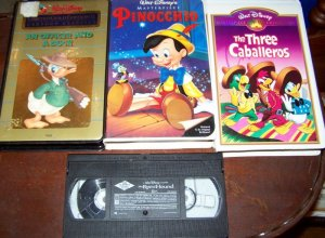 Animated Disney movies lot/Pinocchio/3 Caballeros + more!