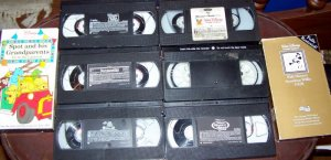 Lot of 8 Disney Cartoon Videos/Spot/Steamboat Willie/Pooh + More!