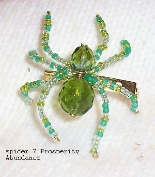 Prosperity abundance Law Of Attraction Spider Pin