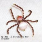 Carnelian Gemstone 4 Courage Law of Attraction Spider