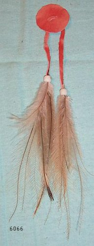 Native American Medicine Woman Shaman Feathers Hair Jewelry Tie