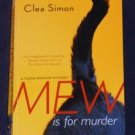 Clea Simon ~ MEW IS FOR MURDER ~ Theda Krakow Mystery