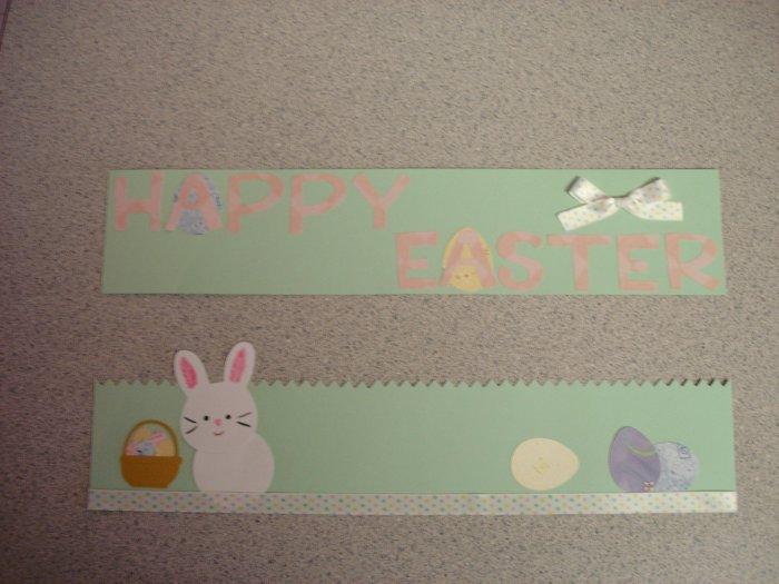 Happy Easter Scrapbook Border Hand Made Craft Item