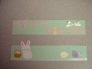 Happy Easter Scrapbook Border Hand Made Craft Item
