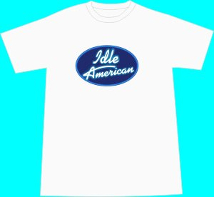 Idle American T-shirt - White  LARGE