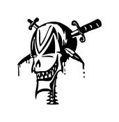 Skull Vinyl Auto Car Truck Window Decal Sticker #sku-004