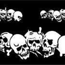 Multiple Skulls Window Decal Sticker Kit #sku-022