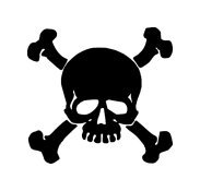 Skull and Crossed Bones Window Decal Sticker #sku-023
