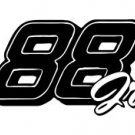 Dale Earnhardt Jr. New Number 88 Window Decal Sticker 88jr-001