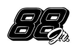 Dale Earnhardt Jr. New Number 88 Window Decal Sticker 88jr-001