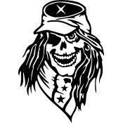 Confederate Soldier Ghost Skull Window Decal sku-031