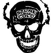 "Stone Cold Skull Vinyl Window Decal Sticker 6"" sku-032"