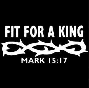Christian Decals : Mark 15:17 - Jesus Crown of Thorns - Vinyl Graphic Sticker jesus003
