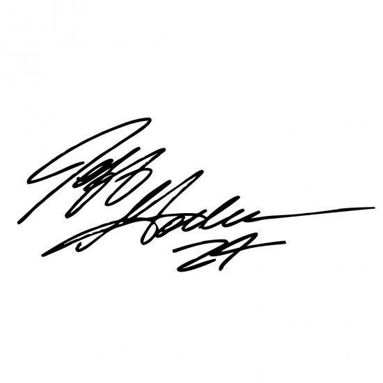 "4"" Jeff Gordon Signature 24 Vinyl Window Decal Sticker"