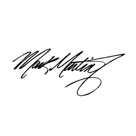 4 9 Quot X 12 Quot Mark Martin Signature 5 Vinyl Window Decal Sticker