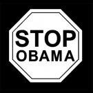 "6"" Anti Stop Obama Vinyl Decal Window Sticker 2"