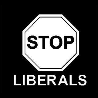 "6"" Anti Stop Liberals Vinyl Decal Window Sticker"
