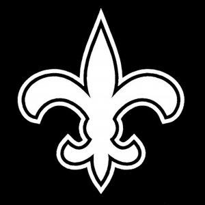 """12"""" New Orleans Saints Flur De Lis Vinyl Decal Window Sticker for Who Dat Fans S-01"""