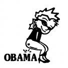 "6"" Calvin Girl Pee Piss on Anti Obama Vinyl Decal Window Sticker Political Humor"