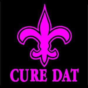 """6"""" New Orleans Saints Cure Dat Fleur de Lis Vinyl Decal Window Sticker for Who Dat Fans"""