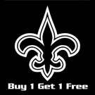 "3"" (Buy 1 Get 1 Free) New Orleans Saints Flur De Lis Vinyl Decals Window Stickers Who Dat  S-02"