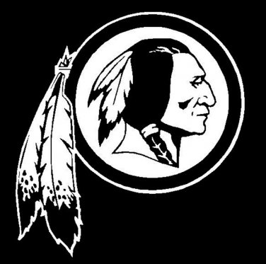 """12"""" White Washington Redskins Vinyl Decals Window Stickers"""