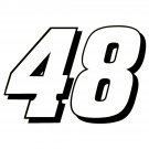 "4"" Jimmie Johnson 48 Nacsar Vinyl Window Decal Sticker"