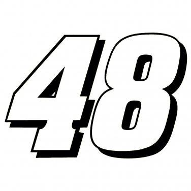 "6"" Jimmie Johnson 48 Window Decal Sticker 48jj-2c6"