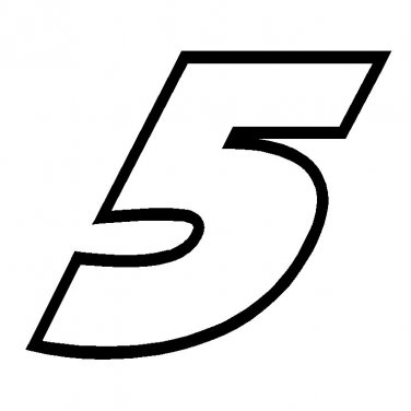 "8"" Kasey Kahne Number 5 Vinyl Window Decal Sticker"