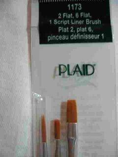 Donna Dewberry One Stroke 1173 Brush Set Plaid 3 Brushes