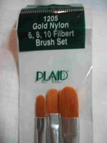 Donna Dewberry One Stroke 1205 Filbert Brush Set 3 Brushes