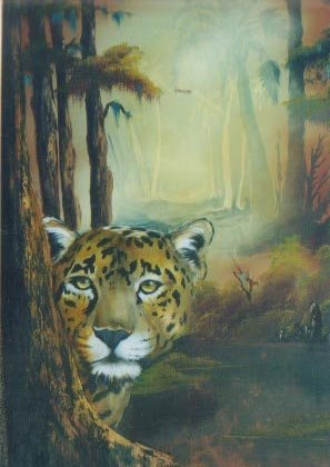 Bob Ross TROPICAL JAGUAR Paint Pattern Packet Bonus Booklet