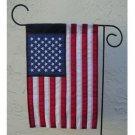 "American flag nylon US Garden flag 12 x 18"" Sewn July 4th flag"