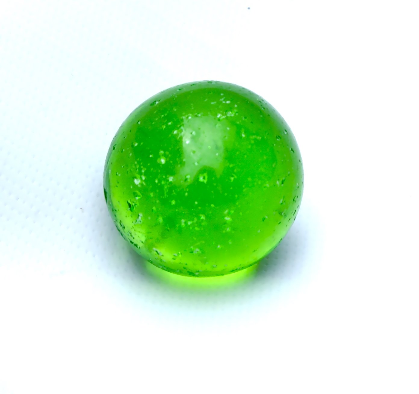 Vintage Akro Agate Lime Green Shooter Marble