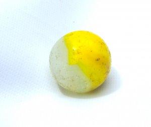 Akro Agate Egg Yolk Shooter Marble c1945
